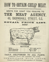 Advert For D. Tallerman, Meat Agent